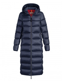 Parajumpers Leah long navy quilted jacket with hood online