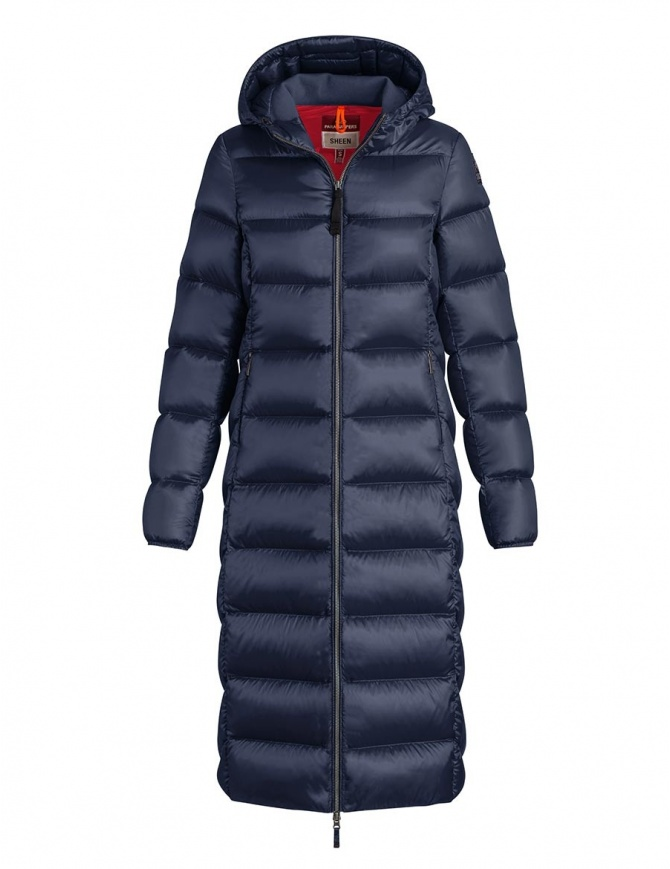 Parajumpers Leah long navy quilted jacket with hood PW JCK SX33 LEAH 706 womens coats online