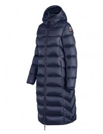 Piumino lungo Parajumpers Leah blu con cappuccio acquista online