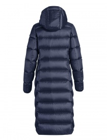 Parajumpers Leah long navy quilted jacket with hood price