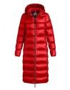 Piumino lungo Parajumpers Leah rosso con cappuccio acquista online PW JCK SX33 LEAH 723