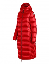 Parajumpers Leah long scarlet quilted jacket with hood buy online
