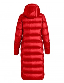 Parajumpers Leah long scarlet quilted jacket with hood price