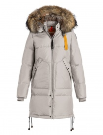Parajumpers Long Bear white coat with furred hood online