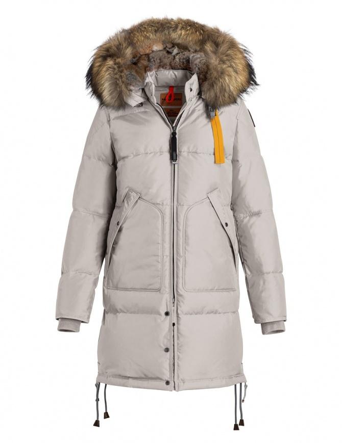 Cappotto Parajumpers Long Bear bianco con cappuccio in pelliccia PM JCK MA33 LONG BEAR 773 cappotti donna online shopping