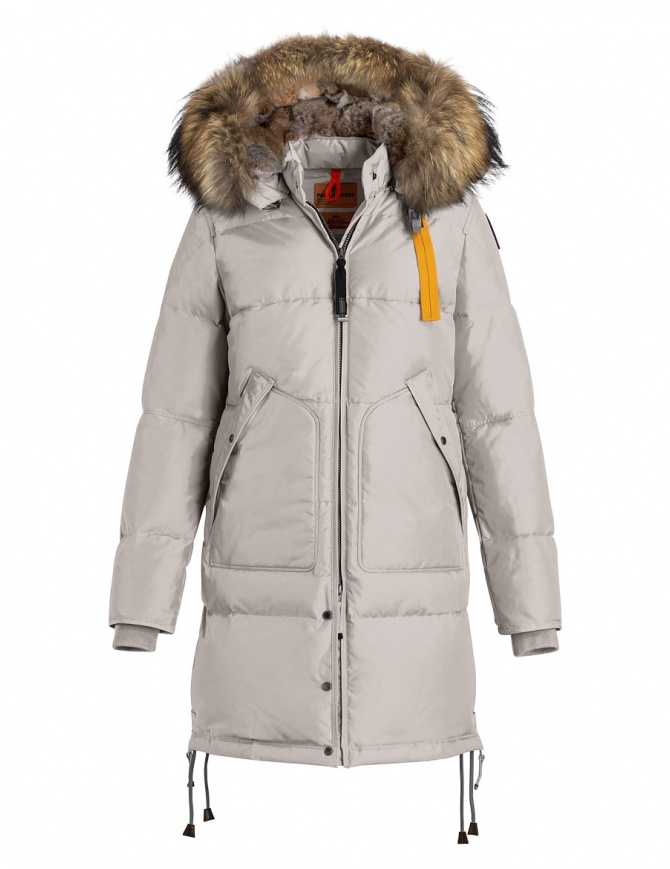 Parajumpers Long Bear white coat with furred hood PM JCK MA33 LONG BEAR 773 womens coats