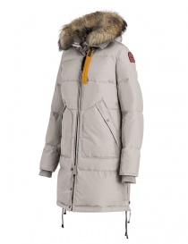 Parajumpers Long Bear white coat with furred hood