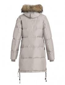 Cappotto Parajumpers Long Bear bianco con cappuccio in pelliccia prezzo
