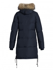 Parajumpers Long Bear blue coat with furred hood price