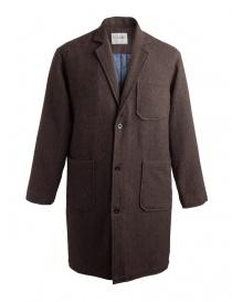 Cappotto Camo Ribot marrone tabacco AD0047 RIBOT BROWN order online