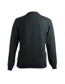Maglione Camo Deleo a righe verticali verdi blu