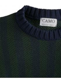 Maglione Camo Deleo a righe verticali verdi blu prezzo