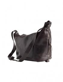 Delle Cose asphalt black leather bag