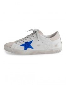 Golden Goose Superstar shoes with drawn star