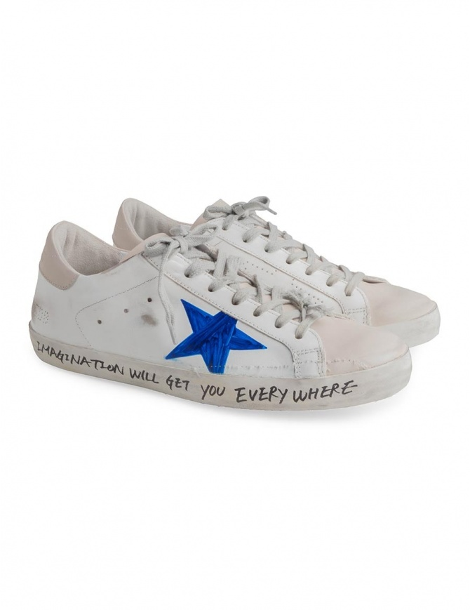 Golden Goose Superstar shoes with drawn star G33MS590 H36 mens shoes online shopping