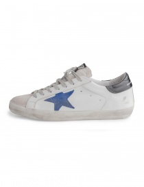 Golden Goose Superstar sneakers with blue star