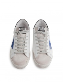 Golden Goose Superstar sneakers with blue star mens shoes buy online