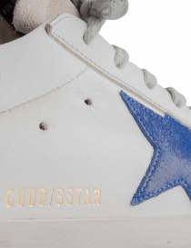 Golden Goose Superstar sneakers with blue star mens shoes price