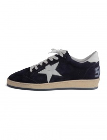 Navy blue Golden Goose Ballstar with SNEAKERS writing