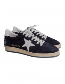 Navy blue Golden Goose Ballstar with SNEAKERS writing online