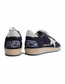 Navy blue Golden Goose Ballstar with SNEAKERS writing price