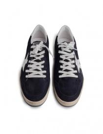 Golden Goose Ballstar blu navy con scritta SNEAKERS calzature uomo acquista online