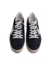 Navy blue Golden Goose Ballstar with SNEAKERS writing mens shoes buy online