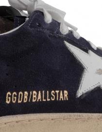 Golden Goose Ballstar blu navy con scritta SNEAKERS acquista online prezzo