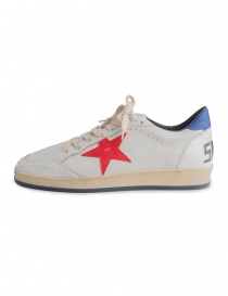 Golden Goose white Ballstar sneakers with red star