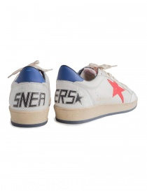 Golden Goose white Ballstar sneakers with red star price