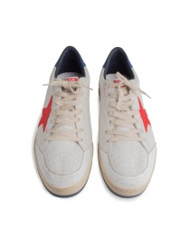 Golden Goose white Ballstar sneakers with red star mens shoes buy online