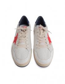 Sneakers Golden Goose Ballstar bianche con stella rossa calzature uomo acquista online