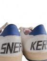 Sneakers Golden Goose Ballstar bianche con stella rossa  prezzo G33MS593 H8shop online