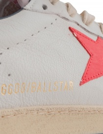 Golden Goose white Ballstar sneakers with red star buy online price