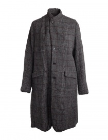 Pas De Calais grey coat for woman with rear slit 13 80 9544 CHARCOAL order online
