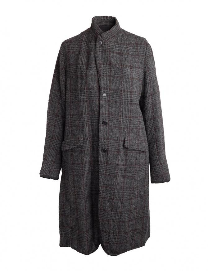 Pas De Calais grey coat for woman with rear slit 13 80 9544 CHARCOAL womens coats online shopping
