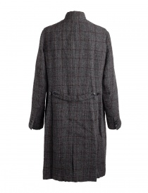 Pas De Calais grey coat for woman with rear slit