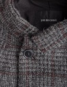 Pas De Calais grey coat for woman with rear slit 13 80 9544 CHARCOAL price