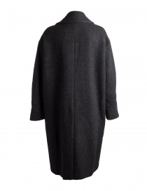 Pas de Calais black coat for woman with grey shades