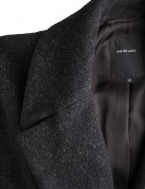 Pas de Calais black coat for woman with grey shades price