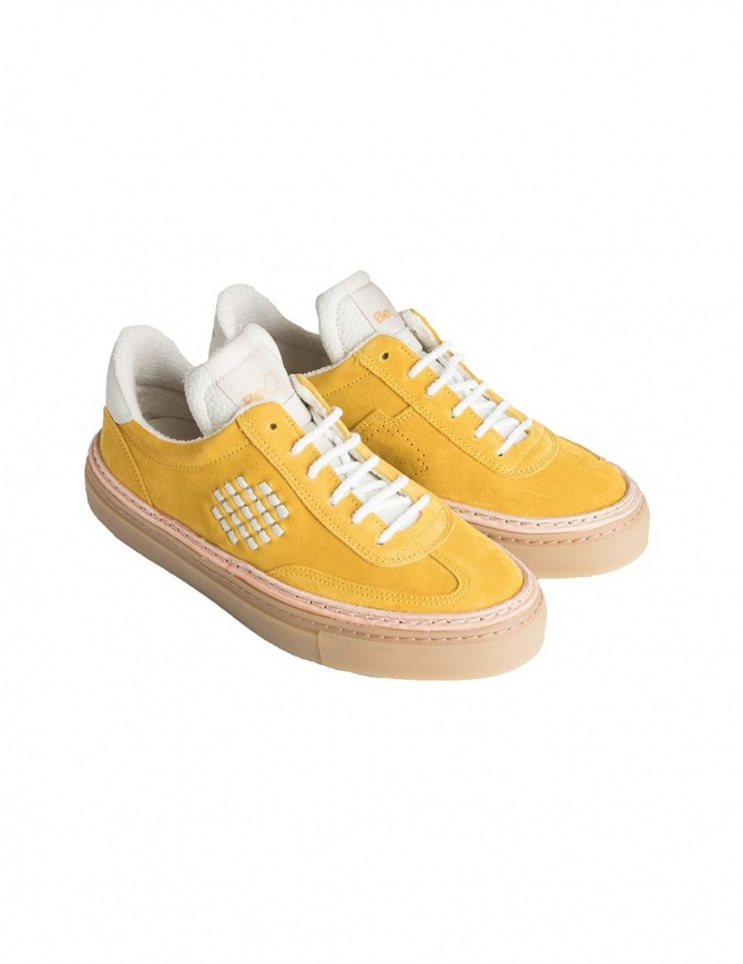 BePositive yellow suede sneakers for men 8FARIA14/SUE/YEL-ROX mens shoes online shopping