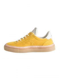 BePositive yellow suede sneakers for men