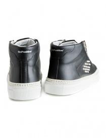 Sneakers BePositive alte in pelle nera con borchie da donna prezzo