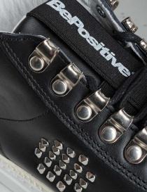 Sneakers BePositive alte in pelle nera con borchie da donna calzature donna acquista online