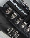 Sneakers BePositive alte in pelle nera con borchie da donna 8FWOARIA16/LEA/BLK-T acquista online