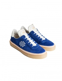 BePositive cobalt blue suede senakers for men 8FARIA14/SUE/ROY-ROX order online