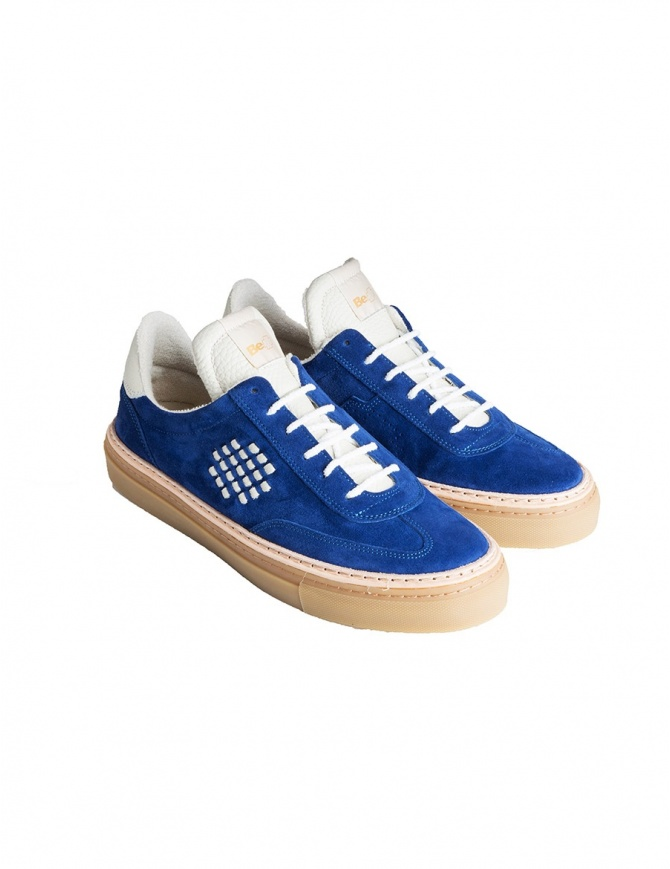 BePositive cobalt blue suede senakers for men 8FARIA14/SUE/ROY-ROX mens shoes online shopping