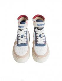 Sneakers alte BePositive Veeshoes bianche rosse blu da donna prezzo