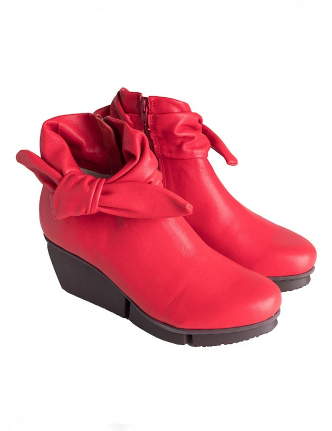 Trippen Trippet Red Ankle Boots TRIPPET F RED SFT womens shoes online shopping