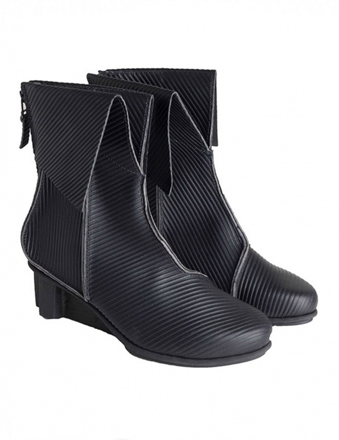 Trippen Black Sleeve Ankle Boots SLEEVE F BLK CRD womens shoes online shopping
